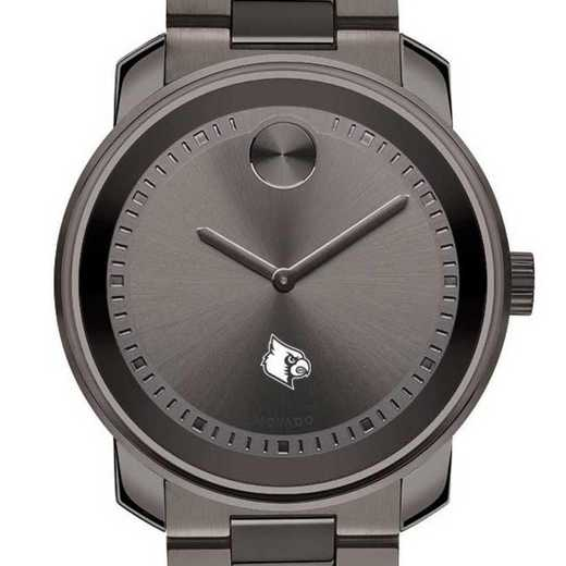 615789852483: Univ of Louisville Men's Movado BOLD gnmtl gry