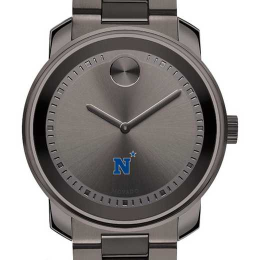 615789858522: US Naval Academy Men's Movado BOLD gnmtl gry