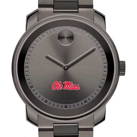 615789949152: Univ of Mississippi Men's Movado BOLD gnmtl gry