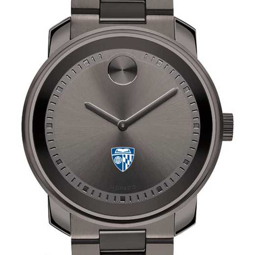 615789996897: Johns Hopkins Univ Men's Movado BOLD gnmtl gry