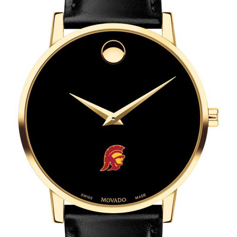 615789953579: Univ of Southern California Men's Movado Gld MuseumClsscLthr