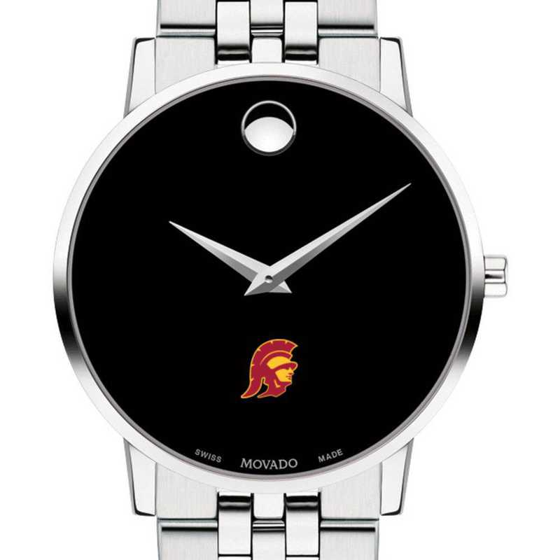 615789717423: Univ of Southern California Men's Movado Museum W/ Bracelet
