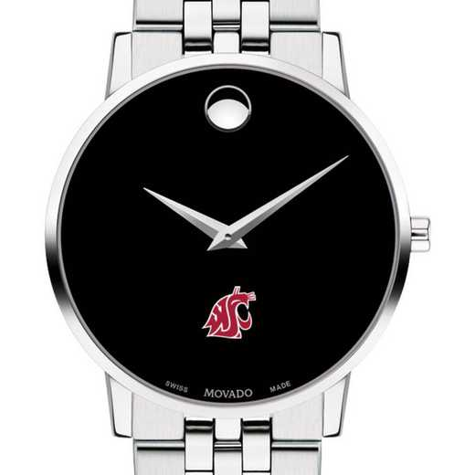 615789960522: Washington State Univ Men's Movado Museum W/ Bracelet