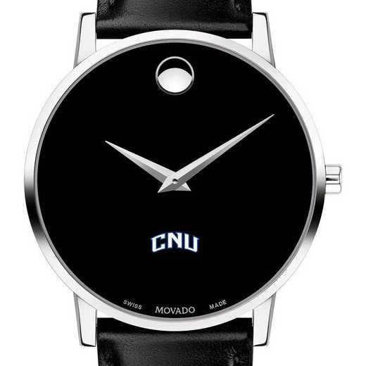 615789714521: Christopher Newport Univ Men's Movado Museum W/Leather Strap