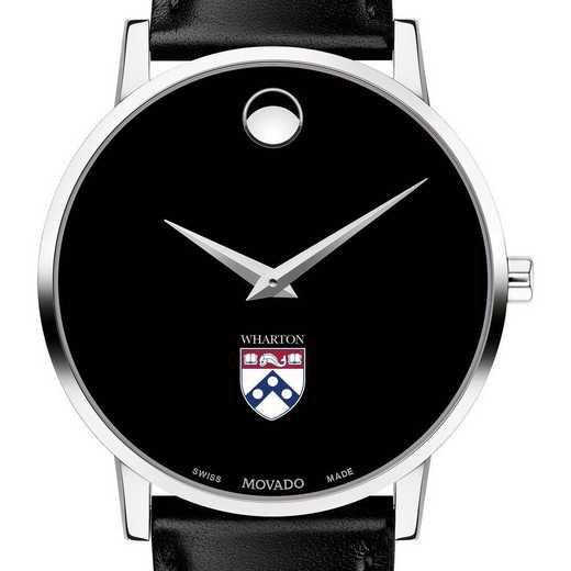 615789918929: Wharton Men's Movado Museum W/ Leather Strap
