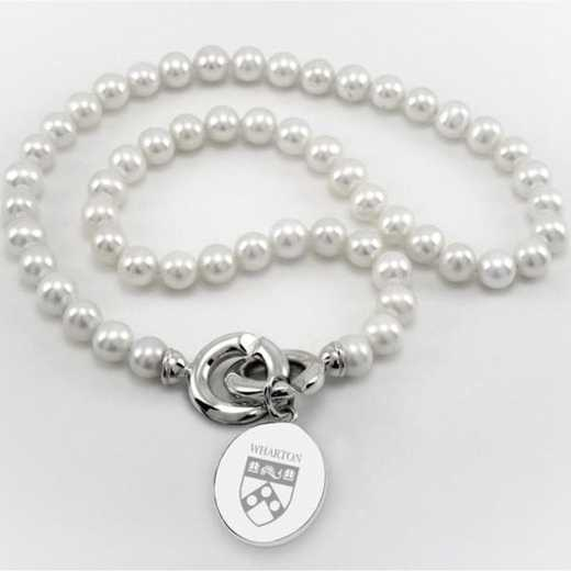 615789573593: Wharton Pearl Necklace with SS Charm