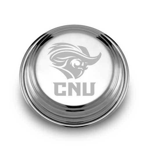 615789115953: Christopher Newport Univ Pewter Paperweight