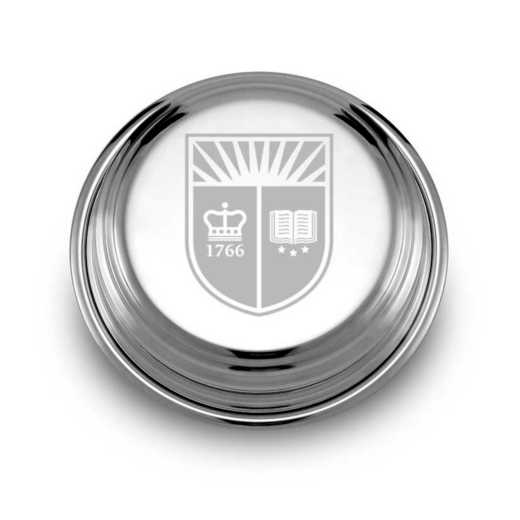 615789218005: Rutgers Univ Pewter Paperweight