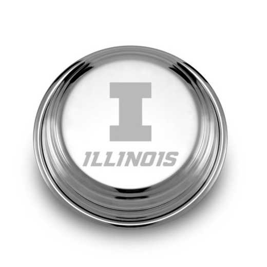 615789255550: Univ of Illinois Pewter Paperweight