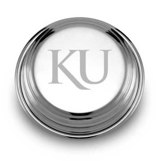 615789304616: Univ of Kansas Pewter Paperweight