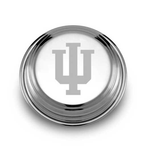 615789757573: Indiana Univ Pewter Paperweight