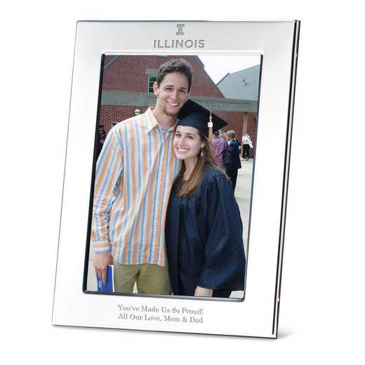615789175124: Univ of Illinois Polished Pewter 5x7 Picture Frame