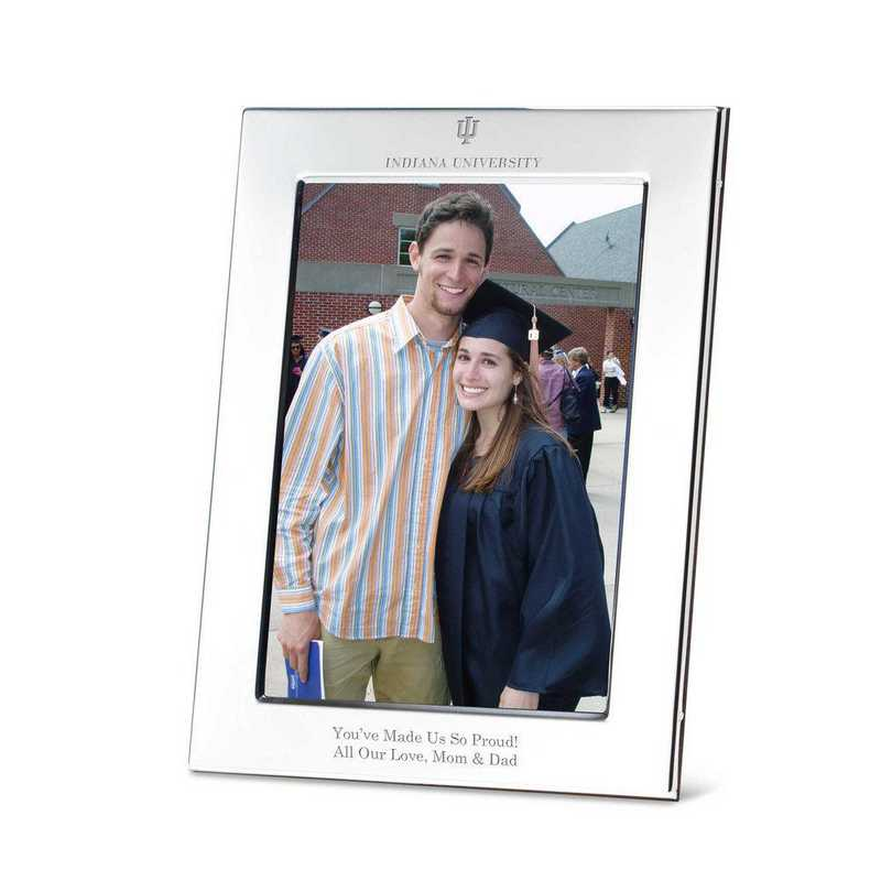615789191056: Indiana Univ Polished Pewter 5x7 Picture Frame