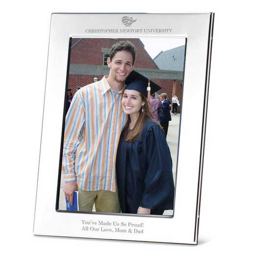 615789315131: Christopher Newport Univ Polished Pewter 5x7 Picture Frame