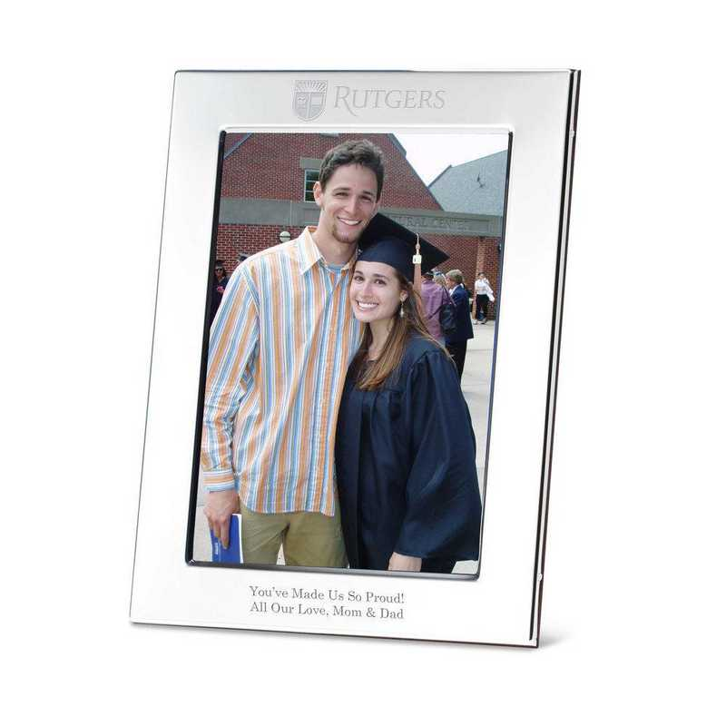 615789425472: Rutgers Univ Polished Pewter 5x7 Picture Frame