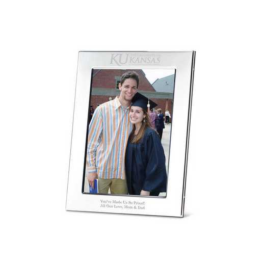 615789605034: Univ of Kansas Polished Pewter 5x7 Picture Frame