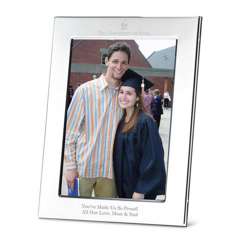 615789649175: Univ of Iowa Polished Pewter 5x7 Picture Frame