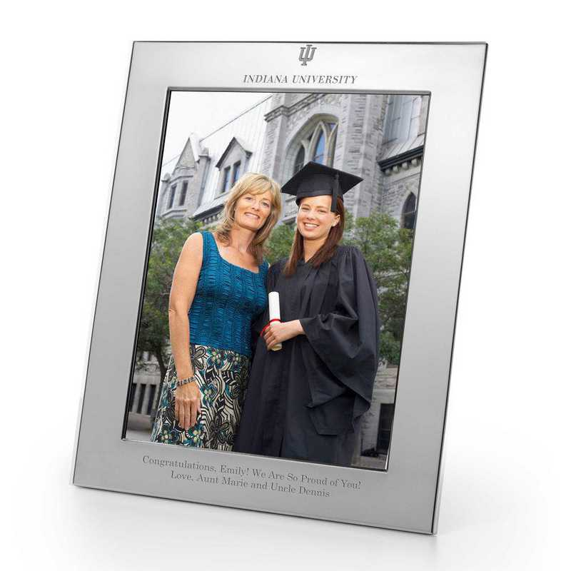 615789226703: Indiana Univ Polished Pewter 8x10 Picture Frame