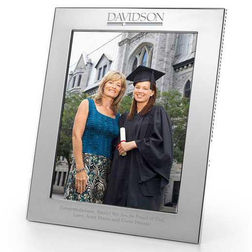 615789301240: Davidson College plshed Pewter 8x10  Frame by M.LaHart & Co.