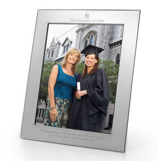 615789308270: Univ of Iowa Polished Pewter 8x10 Picture Frame