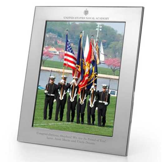 615789358534: Naval Academy plshed Pewter 8x10  Frame by M.LaHart & Co.