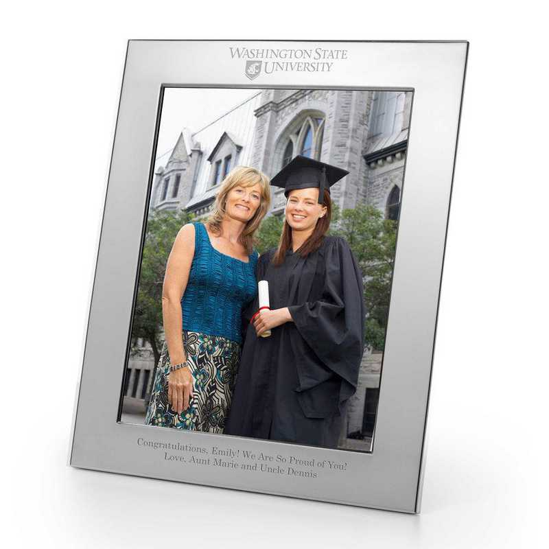 615789612483: Washington State Univ Polished Pewter 8x10 Picture Frame