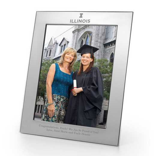 615789946373: Univ of Illinois Polished Pewter 8x10 Picture Frame
