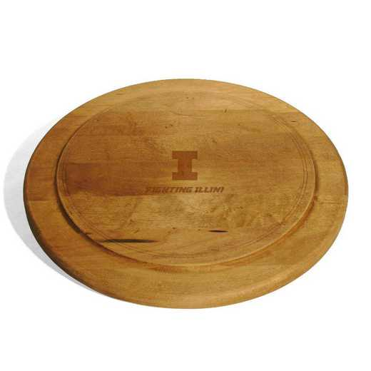 615789354758: Univ of Illinois Round Bread Server
