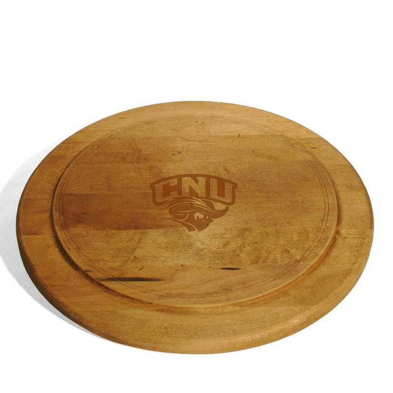 615789894056: Christopher Newport Univ Round Bread Server