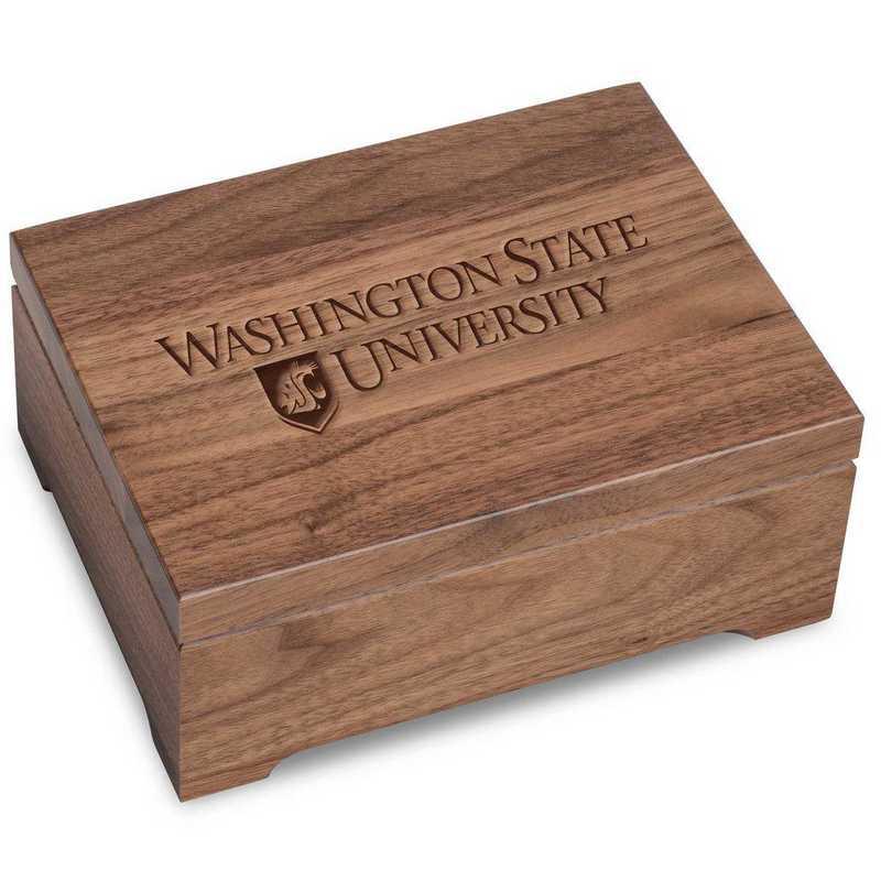615789149750: Washington State Univ Solid Walnut Desk Box