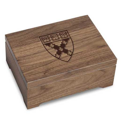 615789245612: Harvard Business School Solid Walnut Desk Box