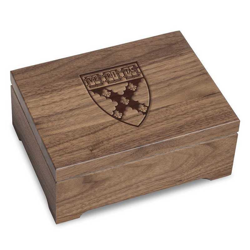 615789245612: Harvard Business School Solid Walnut Desk Box