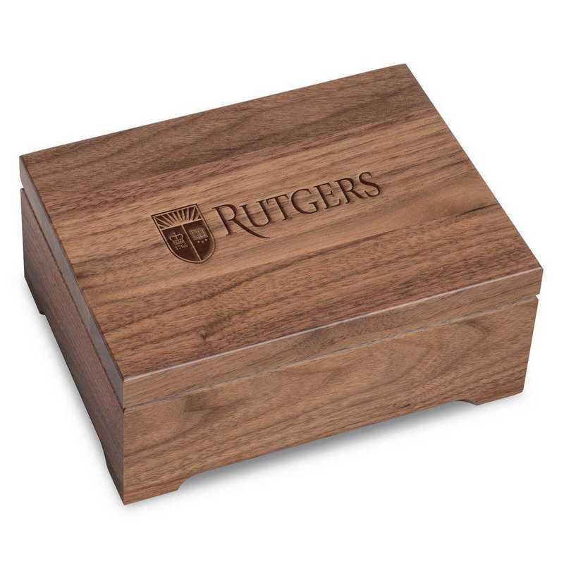 615789381242: Rutgers Univ Solid Walnut Desk Box