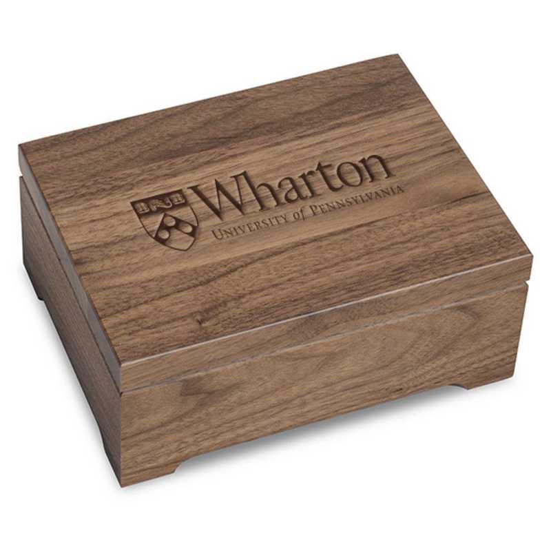 615789596585: Wharton Solid Walnut Desk Box