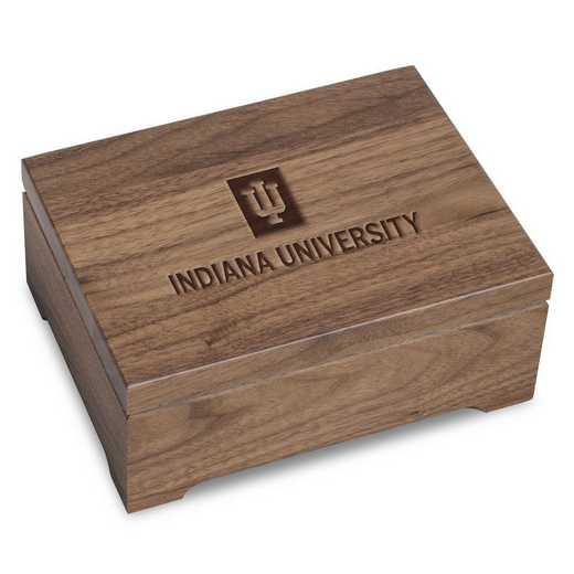 615789850588: Indiana Univ Solid Walnut Desk Box