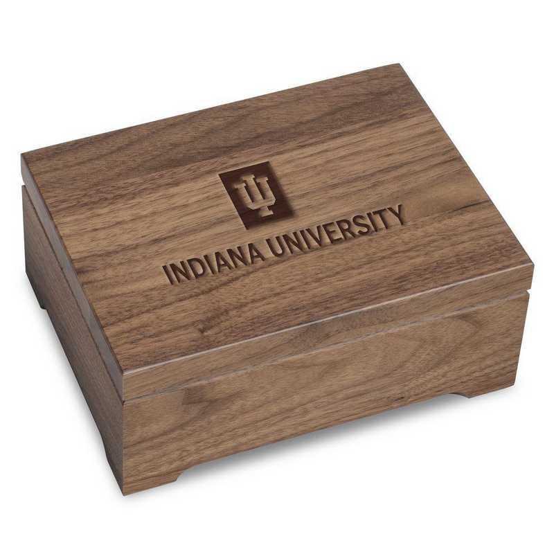 615789850588: Indiana Univ Solid Walnut Desk Box