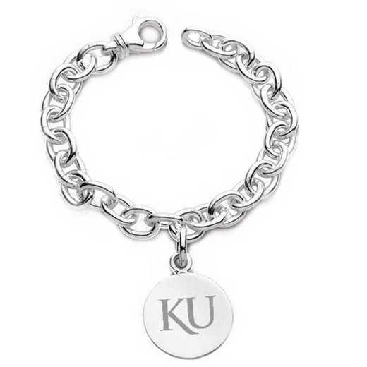 615789362210: Univ of Kansas SS Charm Bracelet