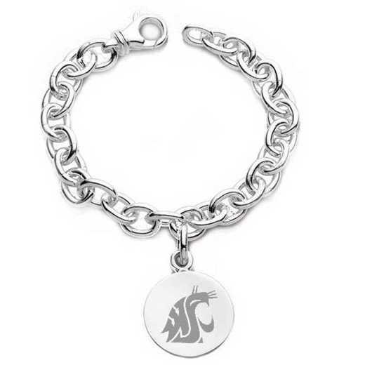 615789612889: Washington State Univ SS Charm Bracelet