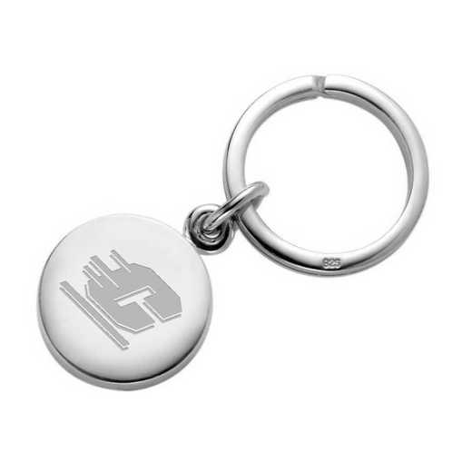 615789094739: Central Michigan Sterling Silver Insignia Key Ring