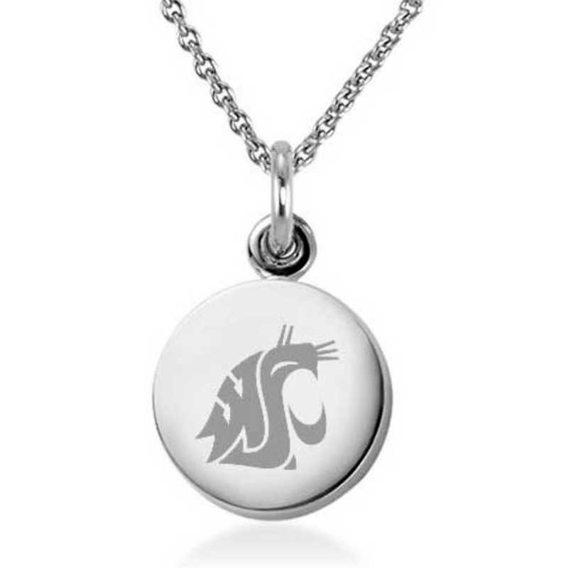 615789075271: Washington State Univ Necklace with Charm in SS