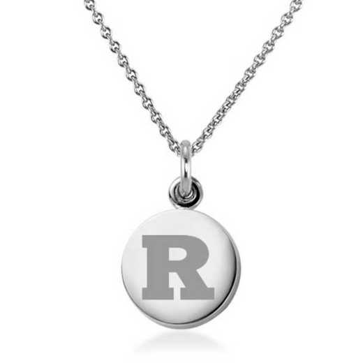 615789467229: Rutgers Univ Necklace with Charm in SS