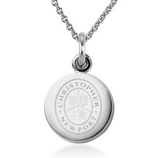 615789497578: Christopher Newport Univ Necklace with Charm in SS