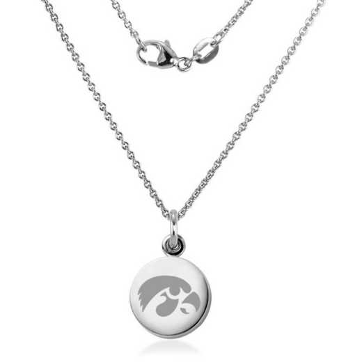 615789643197: Univ of Iowa Necklace with Charm in SS