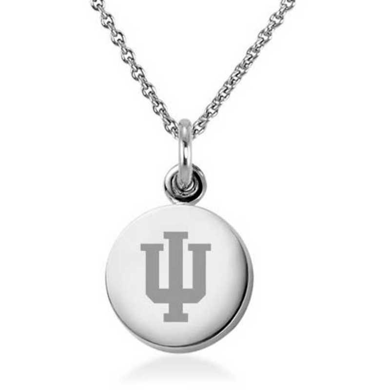 615789790440: Indiana Univ Necklace with Charm in SS
