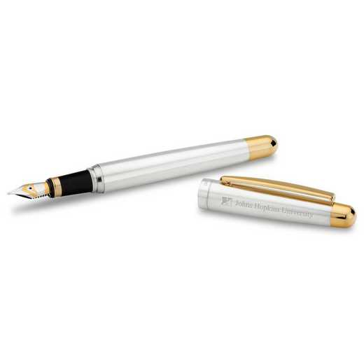 615789824749: Johns Hopkins Univ Fountain Pen in SS W/ Gold Trim