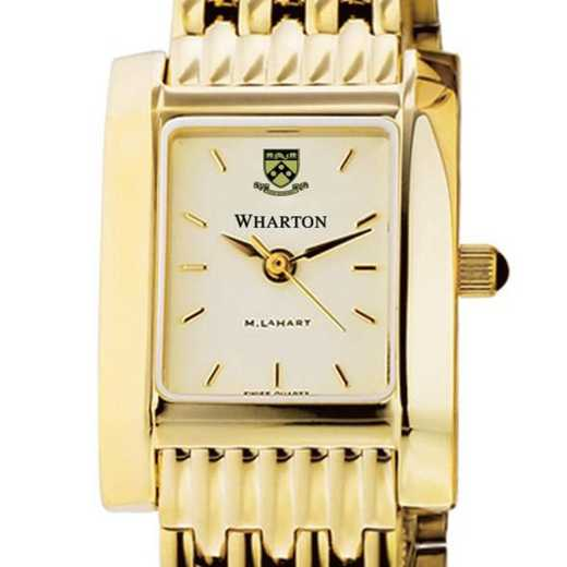 615789410942: Wharton Women's Gold Quad Watch with Bracelet