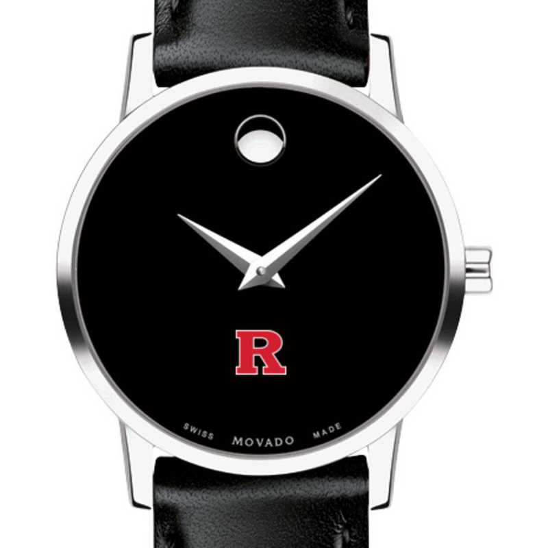 615789552710: Rutgers Univ Women's Movado Museum W/ Leather Strap