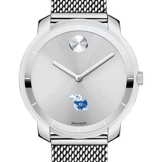 615789507628: Univ of Kansas Women's Movado Stainless Bold 36
