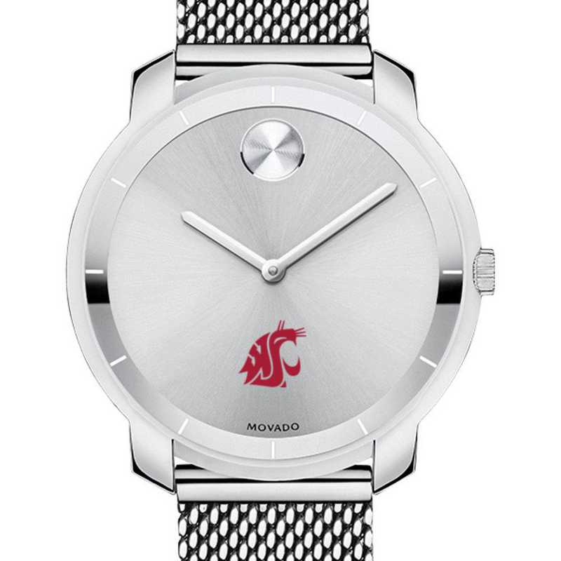615789620815: Washington State Univ Women's Movado Stainless Bold 36