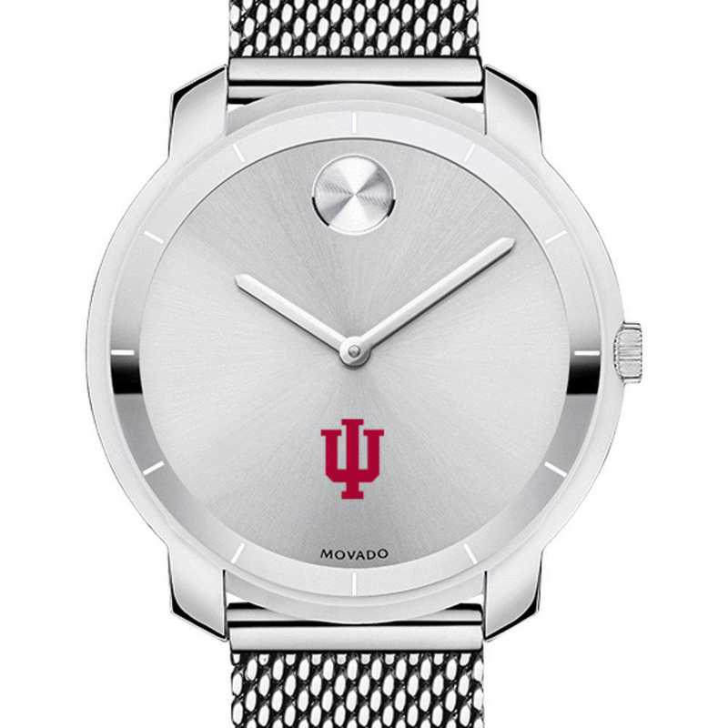 615789814313: Indiana Univ Women's Movado Stainless Bold 36